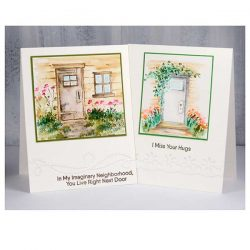 Art Impressions Watercolor Door Set