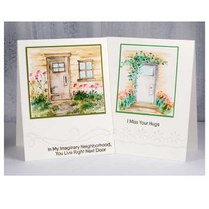Art Impressions Watercolor Door Set class=