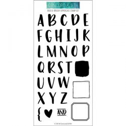Concord & 9th Bold & Brushy Uppercase Stamp Set