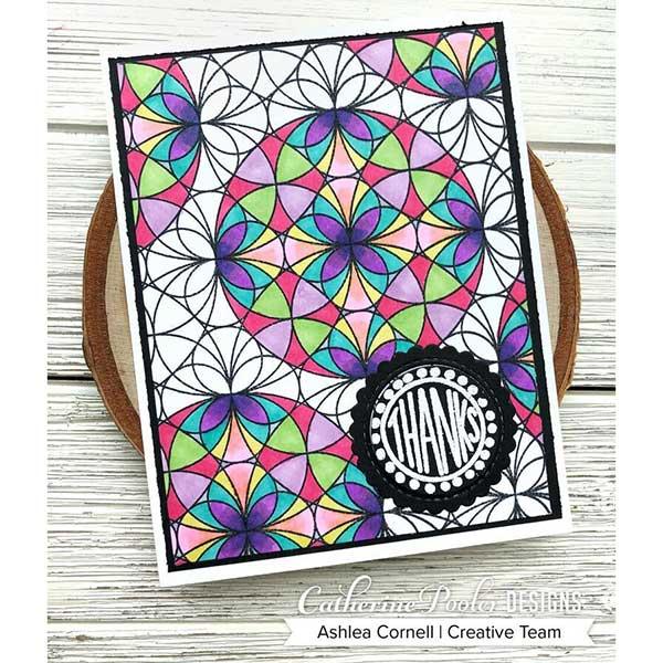 Catherine Pooler Kaleidoscope Background Stamp The