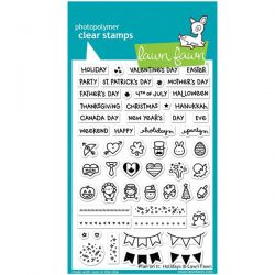 Lawn Fawn Plan On It: Holidays Stamp Set