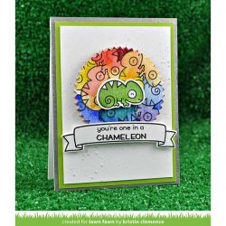 Lawn Fawn One In A Chameleon Stamp Set
