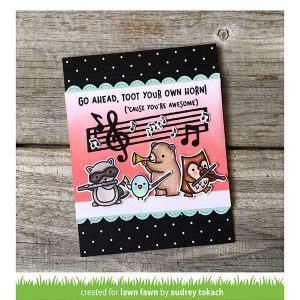 Lawn Fawn Little Music Notes Lawn Cuts class=