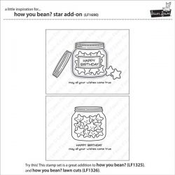 Lawn Fawn How You Bean? Star Add-On Stamp Set