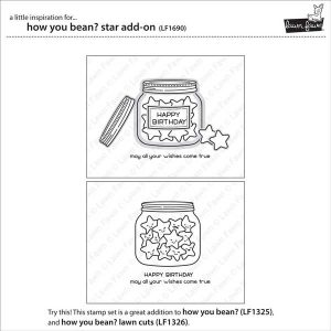 Lawn Fawn How You Bean? Star Add-On Stamp Set class=
