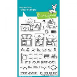 Lawn Fawn Village Shops Stamp Set