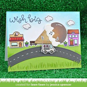 Lawn Fawn Village Shops Stamp Set class=