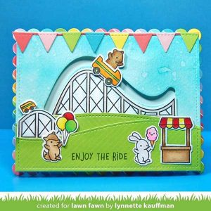 Lawn Fawn Coaster Critters Slide On Over class=