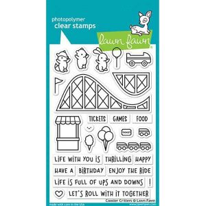 Lawn Fawn Coaster Critters Stamp Set