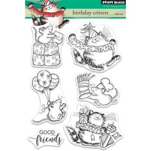 Penny Black Birthday Critters Stamp Set