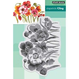 Penny Black Flower Field Slapstick/Cling Stamp