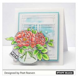 Penny Black Rose Bowl Stamp