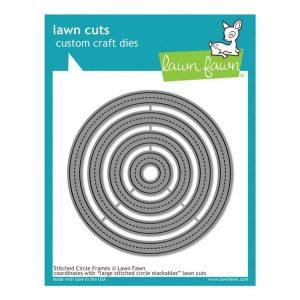 Lawn Fawn Stitched Circle Frames Lawn Cuts