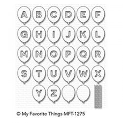 My Favorite Things Balloon Alphabet Die-namics