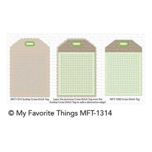 My Favorite Things Scallop Cross-Stitched Tag Die-namics class=