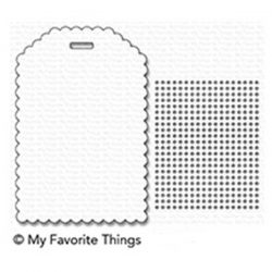 My Favorite Things Scallop Cross-Stitched Tag Die-namics