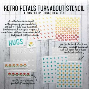 Concord & 9th Retro Petals Turnabout Stencils class=