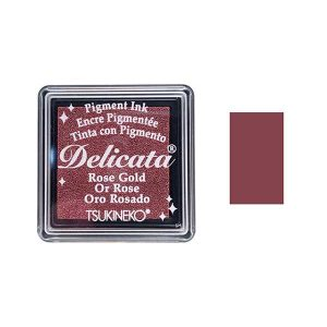 Delicata Small Pigment Inkpad – Rose Gold Shimmer