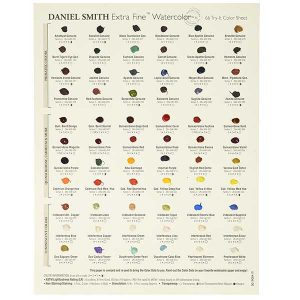 Daniel Smith Extra Fine Watercolor 66 Dot Chart