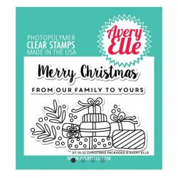 Avery Elle Christmas Packages Stamp Set