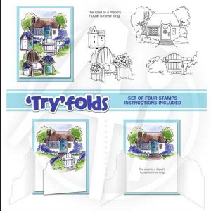 Art Impressions Cottage TryFold Stamp Set class=