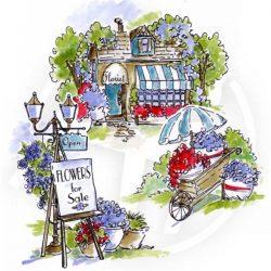 Art Impressions Flower Shop TryFold Stamp Set