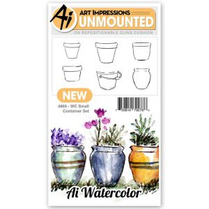 Art Impressions WC Small Container Stamp Set