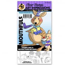Art Impressions Kangaroo Mouthful Stamp and Die Set