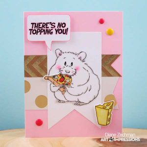 Art Impressions Hamster Mouthful Stamp and Die Set class=