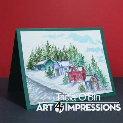 Art Impressions WC Mini Cottage Stamp Set
