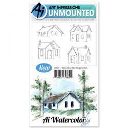 Art Impressions WC Mini Cottage Stamp Set