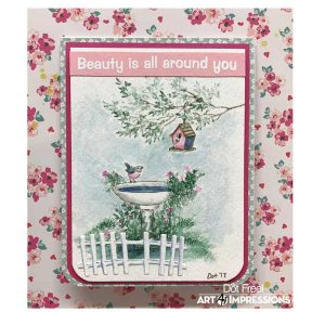Art Impressions WC Branches Stamp Set class=