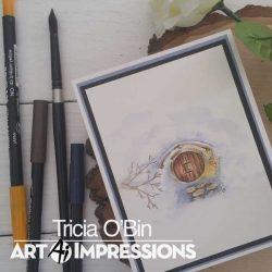 Art Impressions WC Hobbit Door StampSet