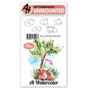 Art Impressions WC Mini Critter Set Stamp