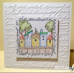 Art Impressions Birdhouse Neighborhood Stamp class=