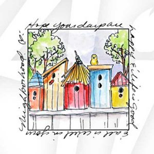 Art Impressions Birdhouse Neighborhood Stamp