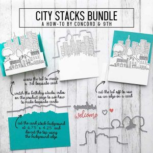 Concord & 9th City Stacks Stamp Set class=