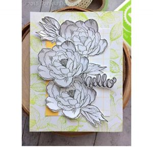Impression Obsession Rose Leaves Cover-A-Card Stamp class=