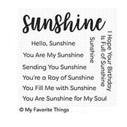 My Favorite Things Full Of Sunshine Stamp Set