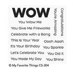 My Favorite Things You Wow Me stamp set