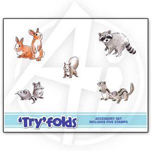 Art Impressions Furries TryFolds Stamp Set