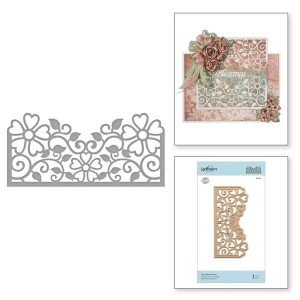 Spellbinders Side Floral Panel Die Set class=