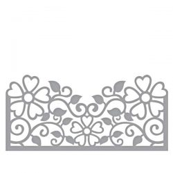 Spellbinders Side Floral Panel Die Set