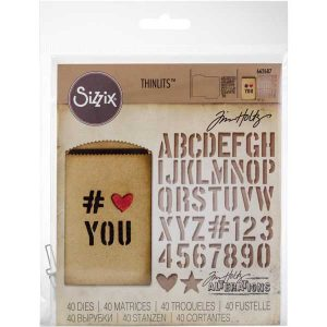 Tim Holtz Gift Card Bag Thinlets class=