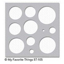 My Favorite Things Basic Shapes Stencil - Circles