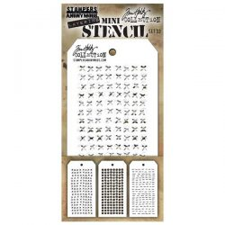 Tim Holtz Mini Layering Stencil, Set #33