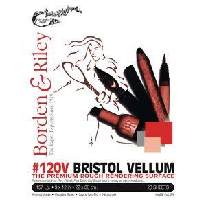 Borden & Riley #120 Bristol Vellum Paper Pad