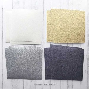 Concord & 9th Neutrals Glitter Paper Pack class=