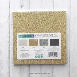 Concord & 9th Neutrals Glitter Paper Pack