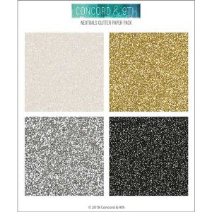 Concord & 9th Neutrals Glitter Paper Pack